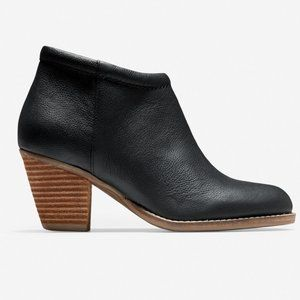 NEW Cole Haan Black Leather Prynne Ankle Boots 7.5